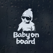 Baby On Board Funny Gangster Rapper Boy Car Decal Vinyl Sticker