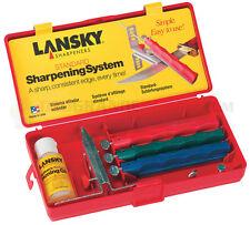 Lansky 3-Stone Sharpening System 3 Hones Medium Coarse Fine Knife Clamp LKC03
