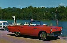 1957 Ford Thunderbird Collection Roadster Transportation Automobile Car Postcard