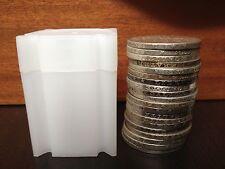 20 tubes neuf  pour stockage pièces jusqu'a 31 mm, ideal 5 francs semeuse argent