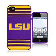 LSU Tigers All Silicone IPHONE 4/4S cell phone soft case - NCAA Licensed