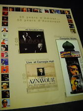 Charles Aznavour 50 years Of d'Amour Promo Poster Ad