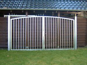 Stahltor Eisentor Gartentor 4.00m x 2.00m Stabfüllung Zauntor Tor verzinkt neu