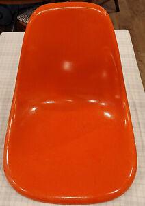 Herman Miller Eames MCM Orange Side Chair Fiberglass Shell No legs