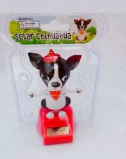 Solar Power Dancing Toys Black And White Chihuahua Bobble Head Toys New