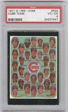 1971 O-Pee-Chee #502 Chicago Cubs Team Card PSA 4
