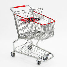 Mini Metal Wire Grocery Shopping Cart Retail Store Supplies Fixture Lot of 6 NEW
