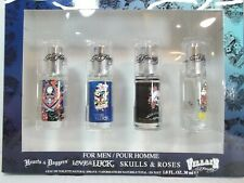 Ed Hardy Cologne Mini Set for Men Hearts Daggers Villian Skulls & Roses Luck
