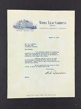 1946 Letter Signed Coach + Scout Bob Davidson NHL Toronto Maple Leaf Gardens