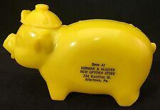 Plastic Piggy Bank Advertising Berman & Glazier 734 Hamilton St Allentown PA Pig
