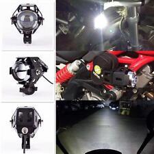 A Black 125W Motorcycle LED CREE U5 Spotlight Driving Spot Fog HeadLight Lamp