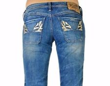 Diesel Women's Lowky Distressed Stretch Jeans made in Italy Sz 27   ret $300