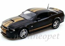 COLLECTIBLES 2012 FORD SHELBY MUSTANG GT 350 1/18 BLACK with 1/64 1962 COBRA