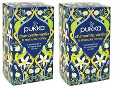 Pukka Organic Chamomile, Vanilla & Manuka Honey Herbal Tea 2 Box Pack