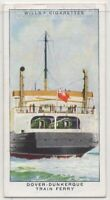 Railroad Train Ferry From Dover To Dunkirk 1930s Trade Ad Card
