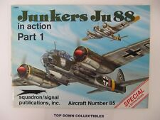 Junkers Ju88 In Action Part 1 Number 85 Magazine  1988 Squadron/Signal