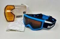 Anon Helix 2.0 Men's Blue Snow Goggles, Sonar Smoke Lens by ZEISS & BONUS Lens
