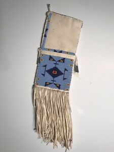 BEAUTIFUL CONTEMPORARY PLAINS SIOUX BEADED HIDE PIPEBAG,EXCELLENT CONDITION,NR!