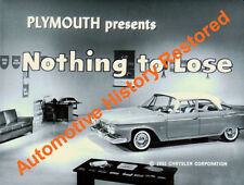 1961 Plymouth Versus Pontiac - Nothing To Lose - Film on CD MP4 *