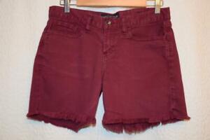 LUCKY BRAND jeans - womens 4 / 27 - Burgundy Red DENIM - ABBEY shorts