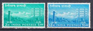 INDIA 1953 TELEGRAPH CENTENARY SET OF 2 SCOTT #246-247 MLH