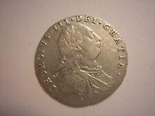 English Silver, 1787 Six Pence, George III, KM #606.1, Great Britain