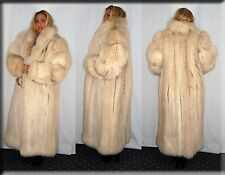 New Blush Fox Fur Coat Size Medium 6 8 M Efurs4less