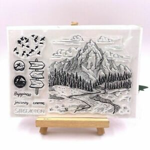 Mountain Forest Theme Transparent Silicone Stamp For Scrapbooking Card Making