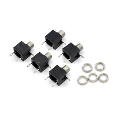5x 3.5mm PCB Panel Mount Mono Jack Female Socket Connector Earphone DYHYJlu