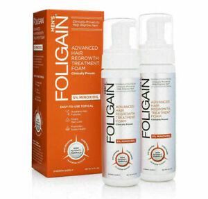 FOLIGAIN HAIR REGROWTH FOAM For Men (177ml) 6 Month Supply, Regaine Hair Loss