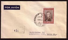 "ARGENTINA 1956 AIR MAIL COVER TO STA. FE FROM ANTARTIC MILITAR BASE ""ESPERANZA"""