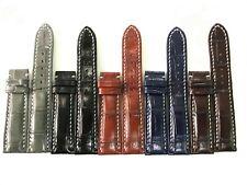 18mm/24mm Genuine Crocodile Alligator Skin Leather Watch Band Strap