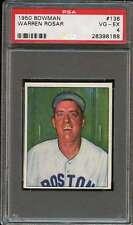 Warren Rosar 1950 Bowman #136 PSA 4 VG-EX
