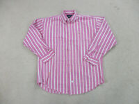 Ralph Lauren Polo Sport Button Up Shirt Adult Extra Large Pink White Mens A48*