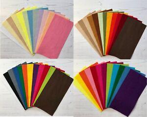 Wool Mix Craft Felt Bundle 10, 12, 18 Sheet Various Sizes / Colours SALE 15% OFF