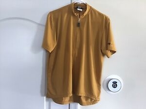 BELLWETHER MADE IN USA MENS CYCLING SHIRT MED. 1/4 ZIP PRE-OWNED