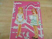 Vintage Rare Saalfield Pre-Teen Uncut Paper Dolls