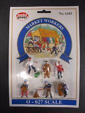Model Power O Scale Market Workers Pack (6 Figures) - MP6183