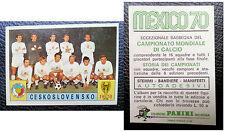 Figurine Calciatori Stikers Panini MEXICO 70 CESKOSLOVENSKO Mint Unused