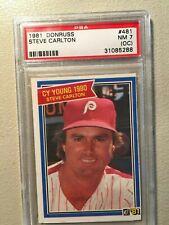1981 Donruss #481 Steve Carlton PSA NM 7 (OC)