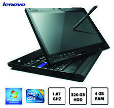 "Lenovo X200 12.1"" IPS Tablet Laptop C2D L9400 1.86GHz 320GB HDD 4GB Win 7 Wacom"