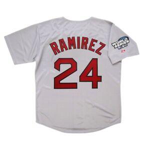 Manny Ramirez 2004 Boston Red Sox Grey Road World Series Jersey Men's Medium
