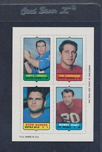 1969 Topps 4-IN-1 Lamonica/Cunningham/Barber/Hunt NM/MT *471