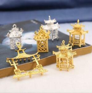 2pcs Pavilion Pendant Connectors For Jewelry Making Headwear Earrings material
