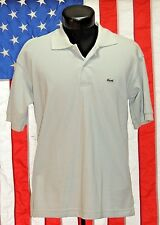Mens Solid Polo Lacoste France 6 Shirt Short Sleeve Croc L 5191L Gray Grey EUC