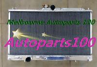 40mm 2 rows aluminum radiator for Mitsubishi EVO7 EVO8 EVO9 EVO 7 8 9 MANUAL