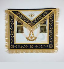 Masonic Past Master Apron Gold Hand Embroidery Apron Navy Velvet MA044