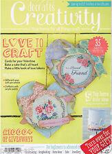 Docrafts creativity magazine 55 February 2015 + FREE decoupage cat, stamp set, +
