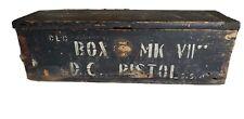 ANTIQUE VINTAGE WOOD BOX MARK VII D.C PISTOL GUN CASE BOX WOW!