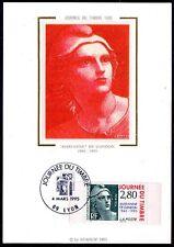 FRANCE FDC - 1995 6 JOURNEE DU TIMBRE - 2934 - LYON -sur soie
